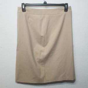 NEW GEORGE Beige Pencil Shirt Stretch 14 L